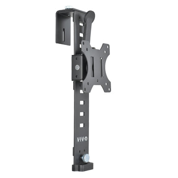 Black Office Cubicle Bracket VESA Monitor Mount Stand Hanger Attachment Adjustable Clamp for 17