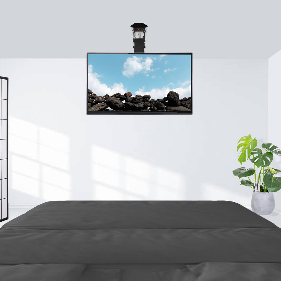 Mount E Fd55 Electric Flip Down Ceiling Tv Mount Vivo