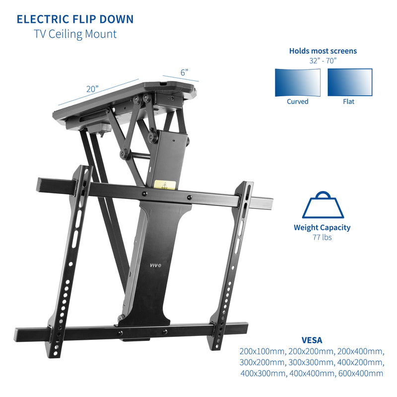 Electric Flip Down Ceiling Mount