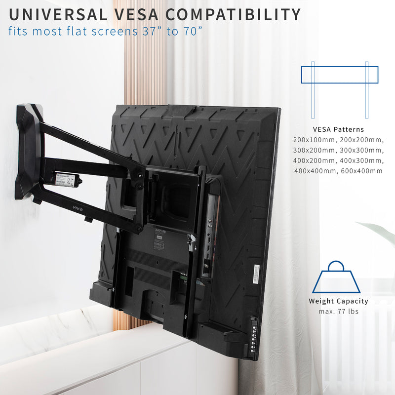 Electric TV Wall Mount universal compatibility