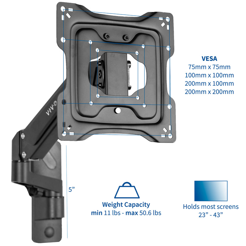 "MOUNT-G200B <br><br>Aluminum Wall Mount for 23"" to 43"" TVs"