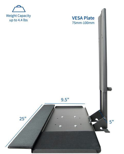 MOUNT-KB02 <br><br><span style=font-weight:normal;>VIVO Computer Keyboard & Mouse Platform Tray Adjustable VESA Mount Attachment</span>