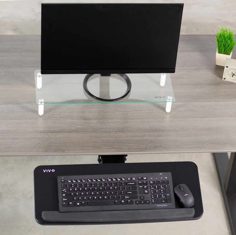 MOUNT-KB03B <br><br>Black Under Desk Keyboard Tray