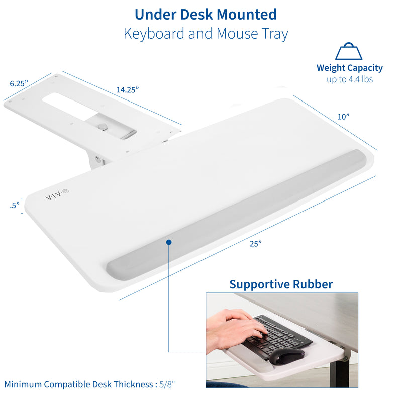 MOUNT-KB03W <br><br>White Under Desk Keyboard