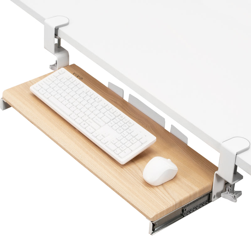 MOUNT-KB05A <br><br>Light Wood Clamp-on Keyboard Tray