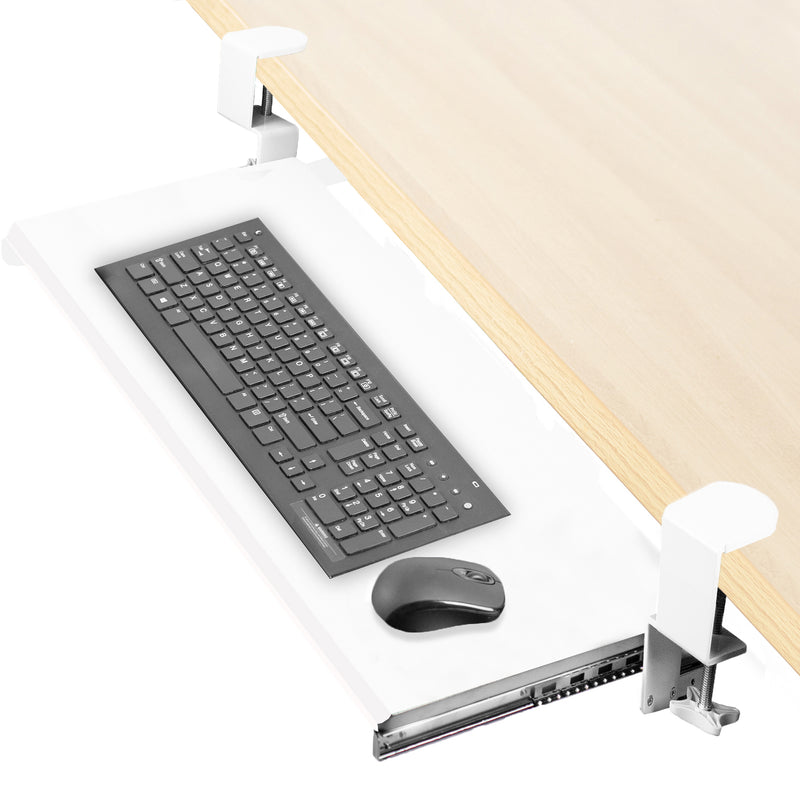 MOUNT-KB05W <br><br>White Clamp-on Keyboard Tray