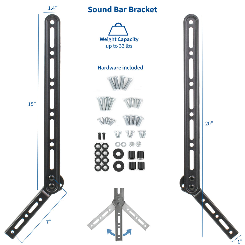 "MOUNT-KIT-VCSB2 <br><br>Ceiling Mount with Soundbar Bracket for 23"" to 55"" TVs"