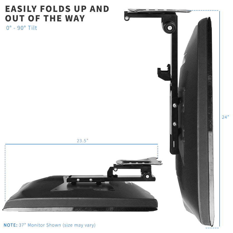 "MOUNT-M-FD37B <br><br>Flip Down Ceiling Mount for 20"" to 37"" TVs and Monitors"