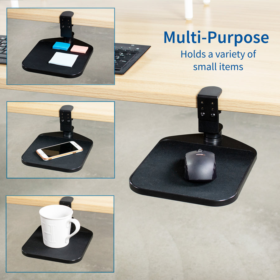 MOUNT-MS01A <br><br>Adjustable Clamp-on Mouse Pad and Device Holder