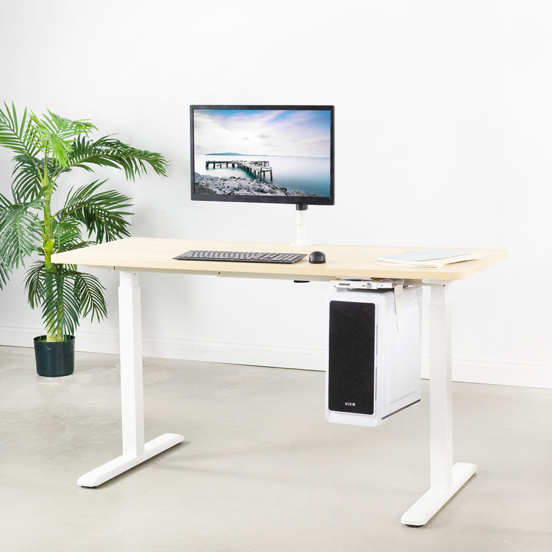 MOUNT-PC01W<br><br>White Under Desk and Wall PC Mount