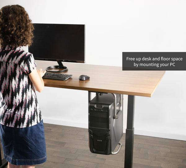 MOUNT-PC04A<br><br><span style=font-weight:normal;>Heavy Duty Adjustable Under-Desk PC Mount Computer Case Holder Supports up to 66lbs  </span>