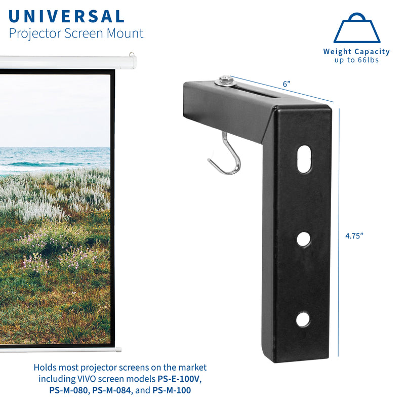 MOUNT-PS01B <br><br>Universal Projector Screen Wall Brackets
