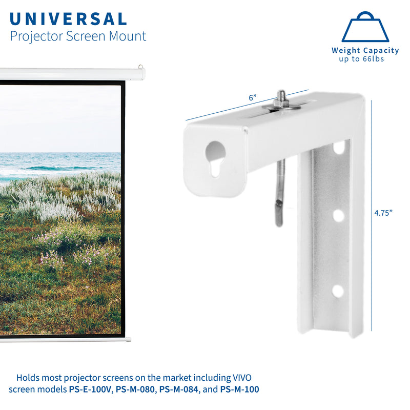 MOUNT-PS01   <br><br>Universal Wall Mount Kit for Projector Screens