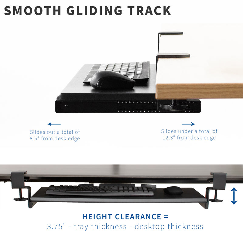 Clamp and Rail Set smooth gliding track