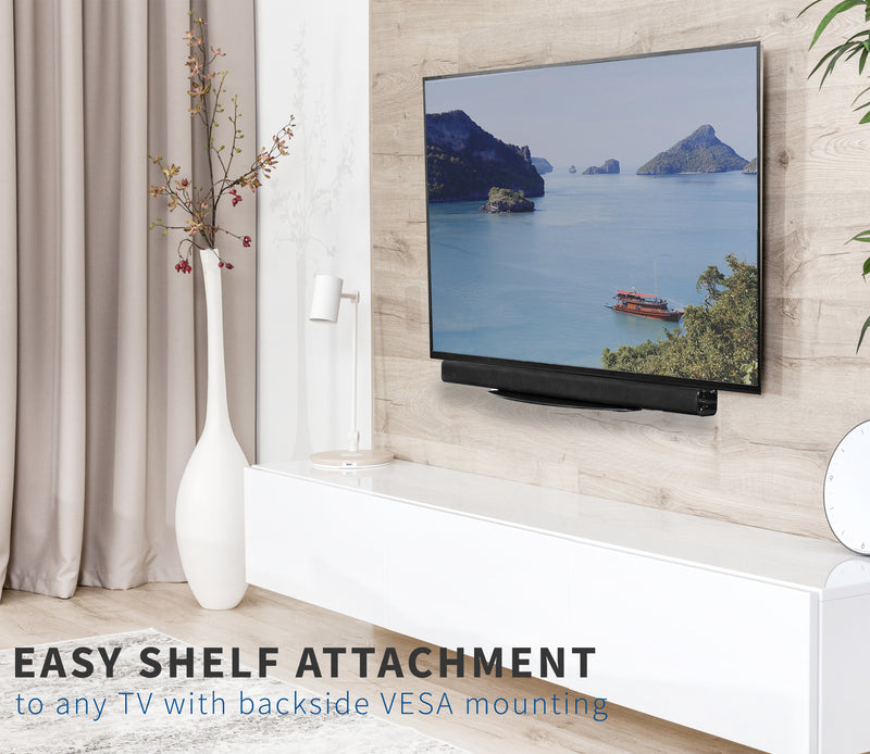 TV Glass VESA Shelf