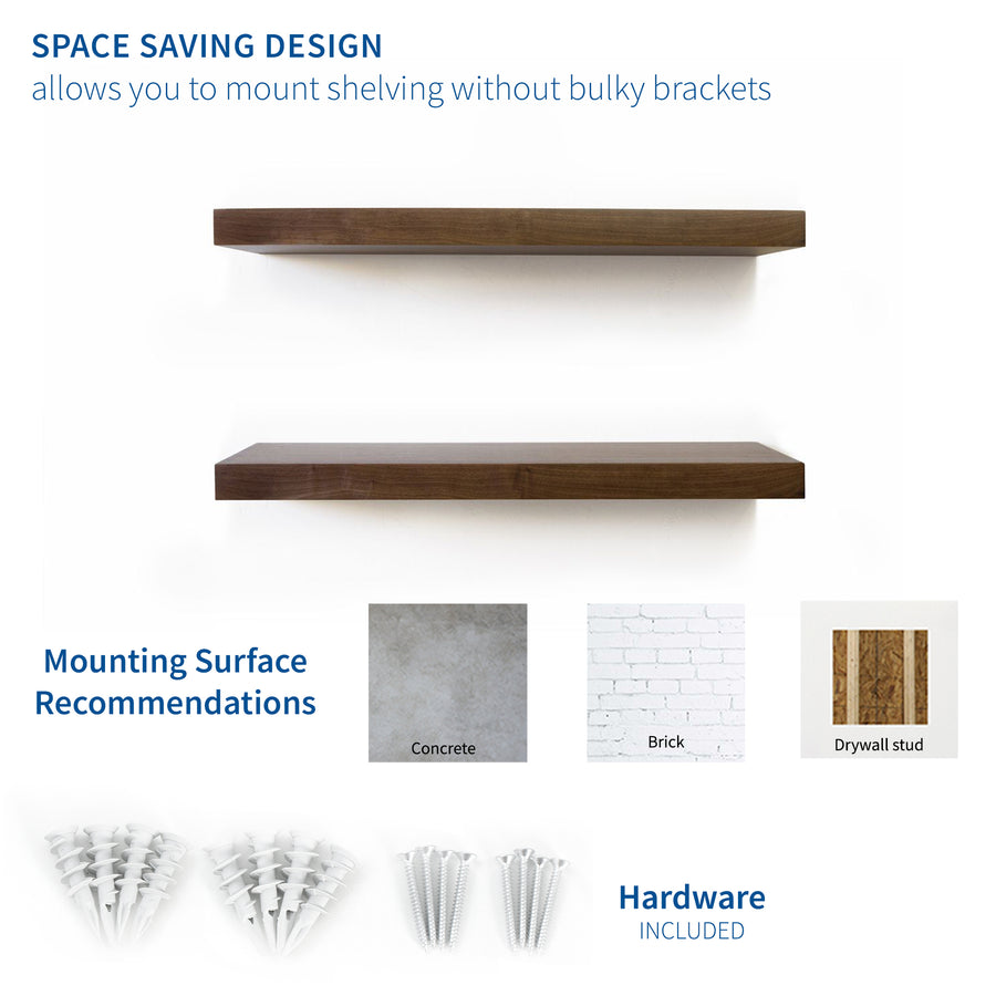 MOUNT-SF05H <br><br>Wall Brackets for Floating Shelf - 4 Pack