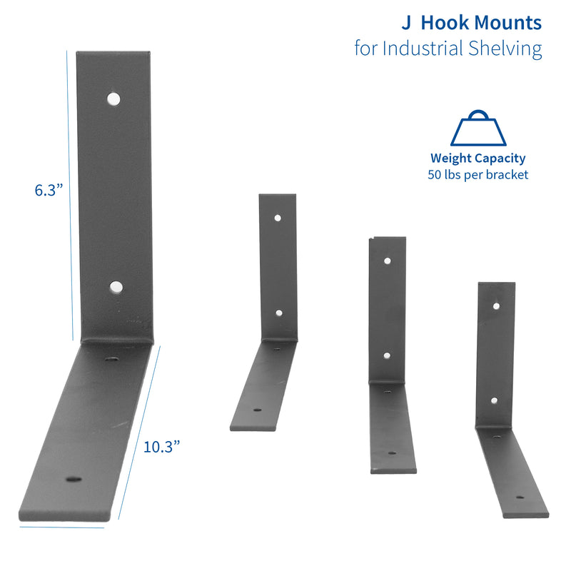 MOUNT-SF05L<br><br>Angle Shelf Brackets - 4 Pack