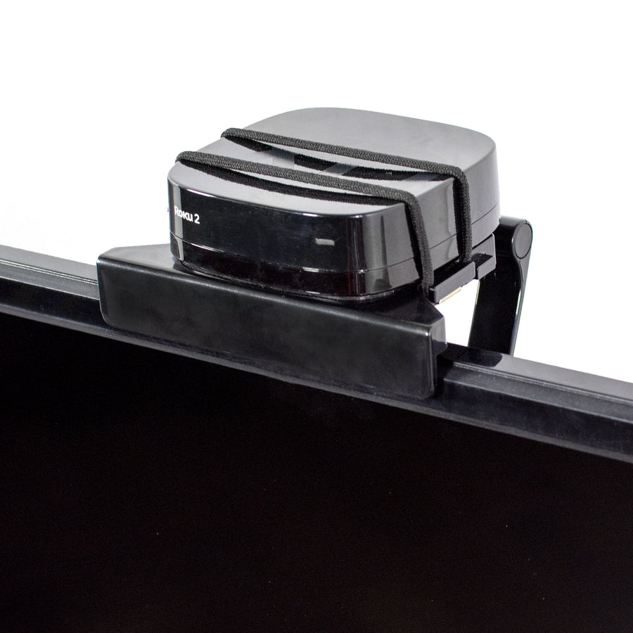 MOUNT-SFTV2 <br><br>Black Top Shelf TV Mount Clip for Media Box Streaming Devices