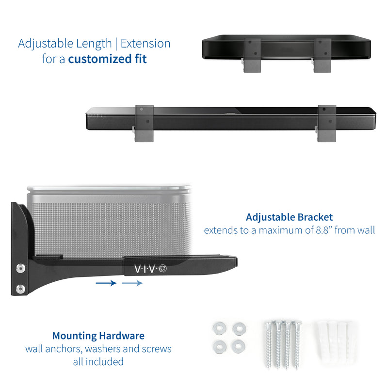 MOUNT-SPSB4<br><br>Universal Soundbar Speaker Wall Mount