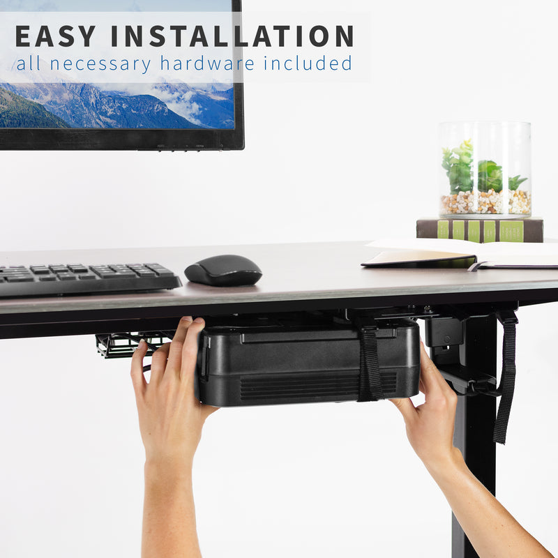Universal Under Desk and Wall UPS Mount easy installation