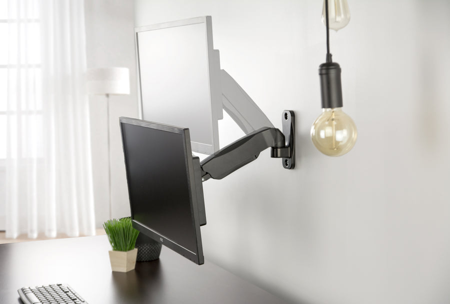 Black Gas Spring Arm Single Monitor Wall Mount