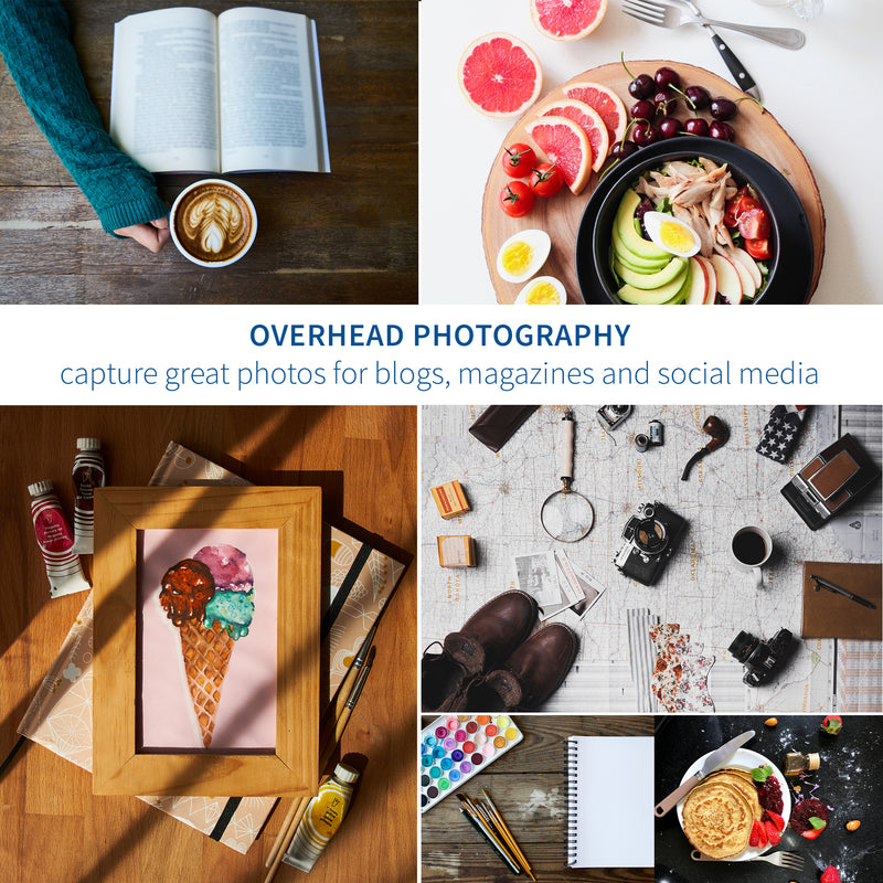 over head photography