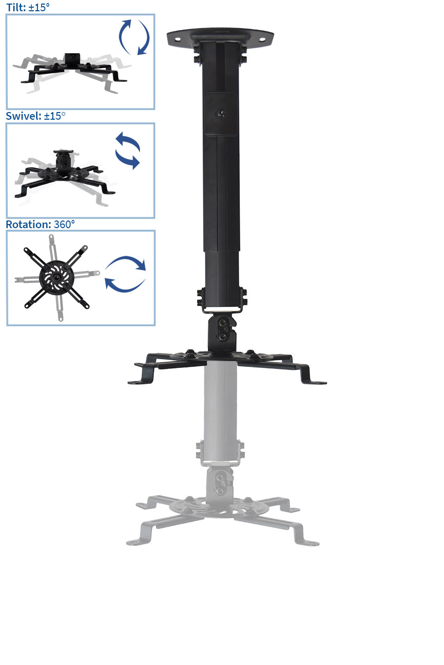 MOUNT-VP02B   <br><br>Universal Extended Ceiling Projector Mount