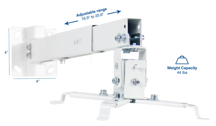 MOUNT-VP06W <br><br>White Universal Wall/Ceiling Projector Mount