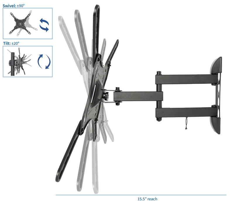 "MOUNT-VW01E <br><br>Wall Mount for 23"" to 55"" TVs"