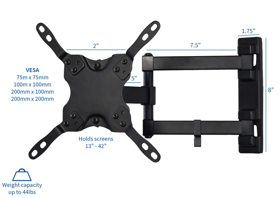 MOUNT-VW01 <br><br>TV Wall Mount 75x75mm to 200x200mm