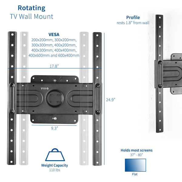 MOUNT-VW080P <br><br>Rotating TV Wall Mount