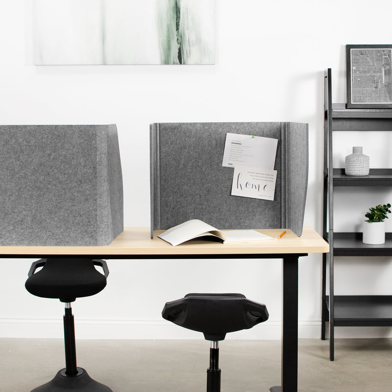 "Gray 22"" Foldable Privacy Desk Panel"