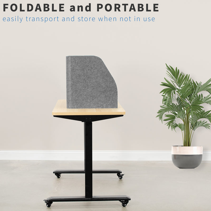 "portable Gray 22"" Foldable Privacy Desk Panel"
