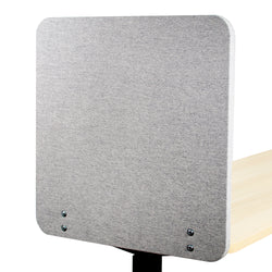 "PP-1-V024G<br><br>Gray 24"" x 24"" Clamp-on Desk Privacy Panel"