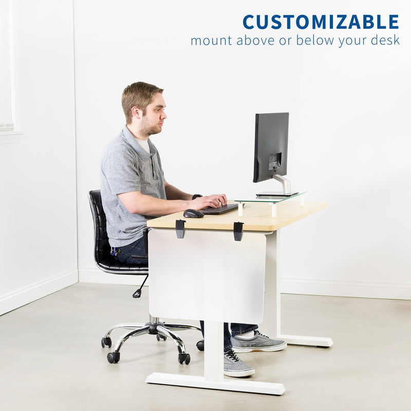 customizable Frosted Clamp-on Desk Privacy Panels
