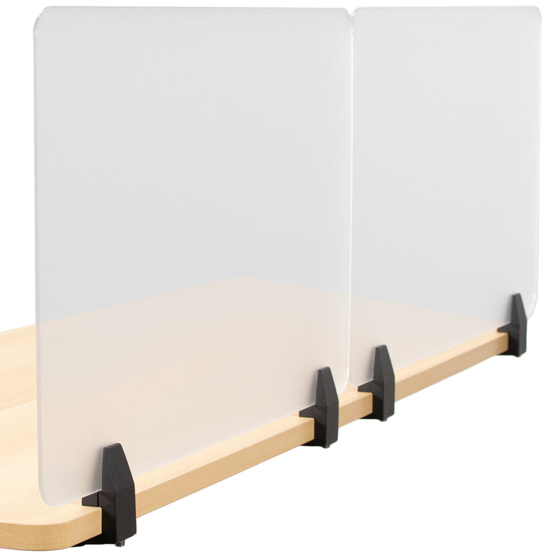 "Frosted 30"" x 18"" Clamp-on Desk Privacy Panels (x2)"