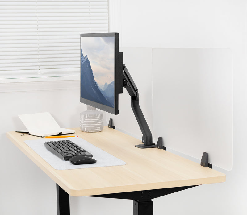Clamp-on Desk Privacy Panels