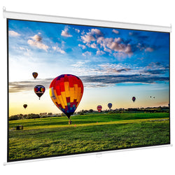 "PS-M-080  <br><br> 80"" Manual Projector Screen 16:9"