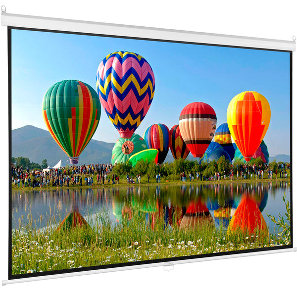 "PS-M-100   <br><br>100"" Manual Projector Screen 16:9"