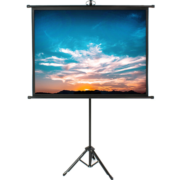 "PS-T-050B <br><br>50"" Portable Tripod Projector Screen 4:3"