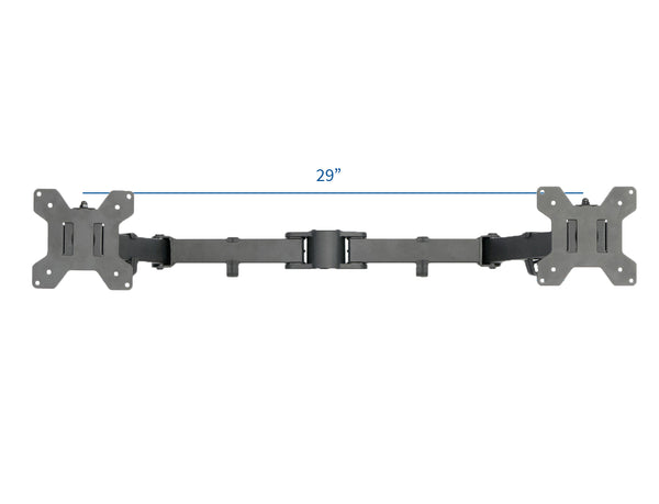"PT-SD-AM02A <br><br><span style=font-weight:normal;>VIVO Black Fully Adjustable Dual Monitor Arm for Desk Mount Stand | Double Monitor Arm for Two Screens up to 27"" </span>"