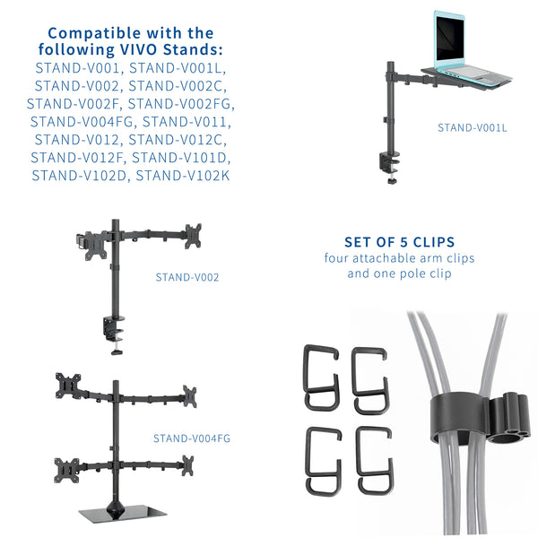"4"" Cable Clip Kit for Monitor Stand"