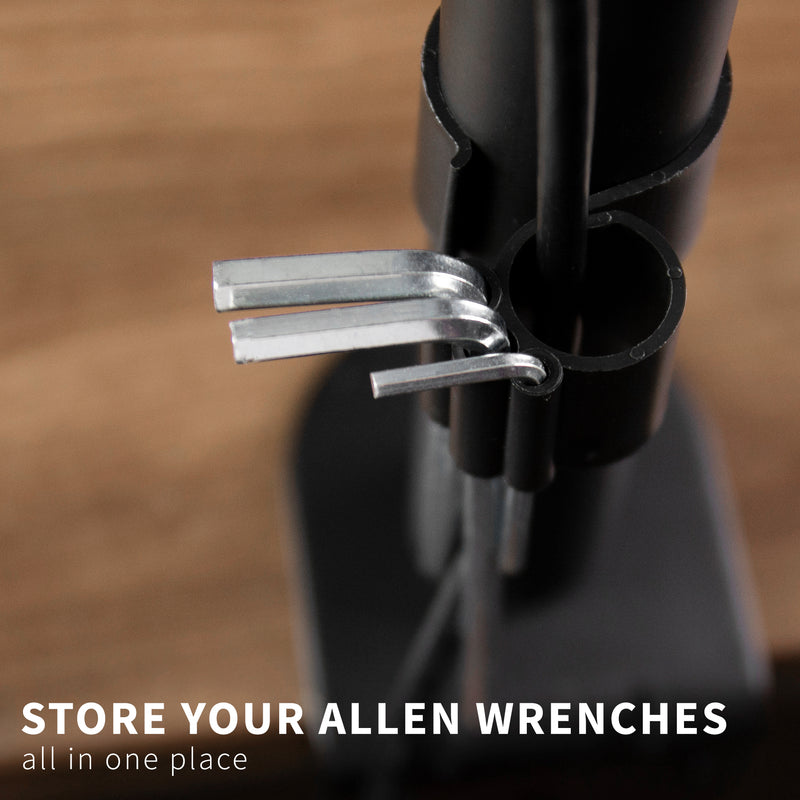"4"" Cable Clip Kit for Monitor Stand allen wrench storage"