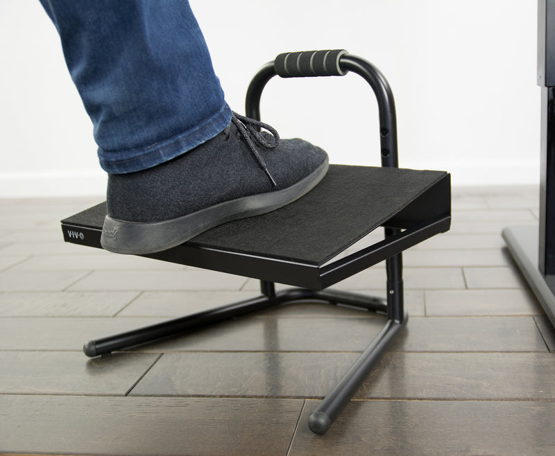 STAND-FT01 <br><br>Black Adjustable Foot Rest