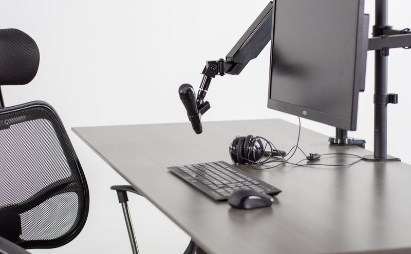 STAND-MIC01<br><br>Pneumatic Arm Microphone Desk Mount