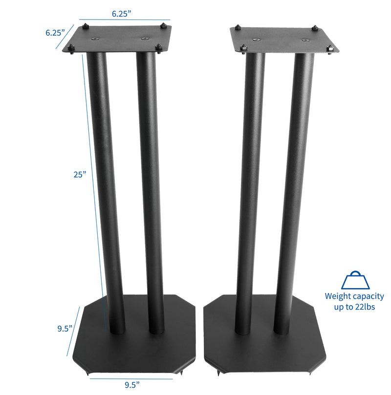 "STAND-SP03B <br><br>25"" Speaker Stand for Surround Sound Speakers"