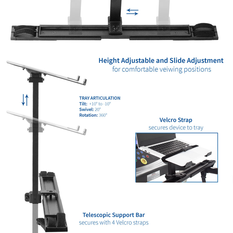 STAND-TDML1 <br><br>Universal Laptop Stand for Treadmill