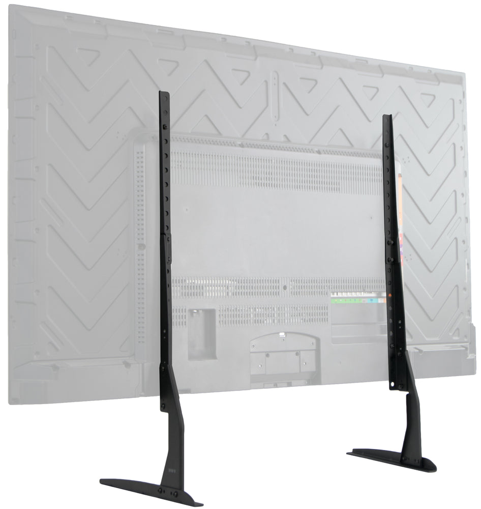 "STAND-TV00Y <br><br><span style=font-weight:normal;> VIVO Universal LCD Flat Screen TV Table Top VESA Mount Stand Black | Base fits 22"" to 65"" </span>"