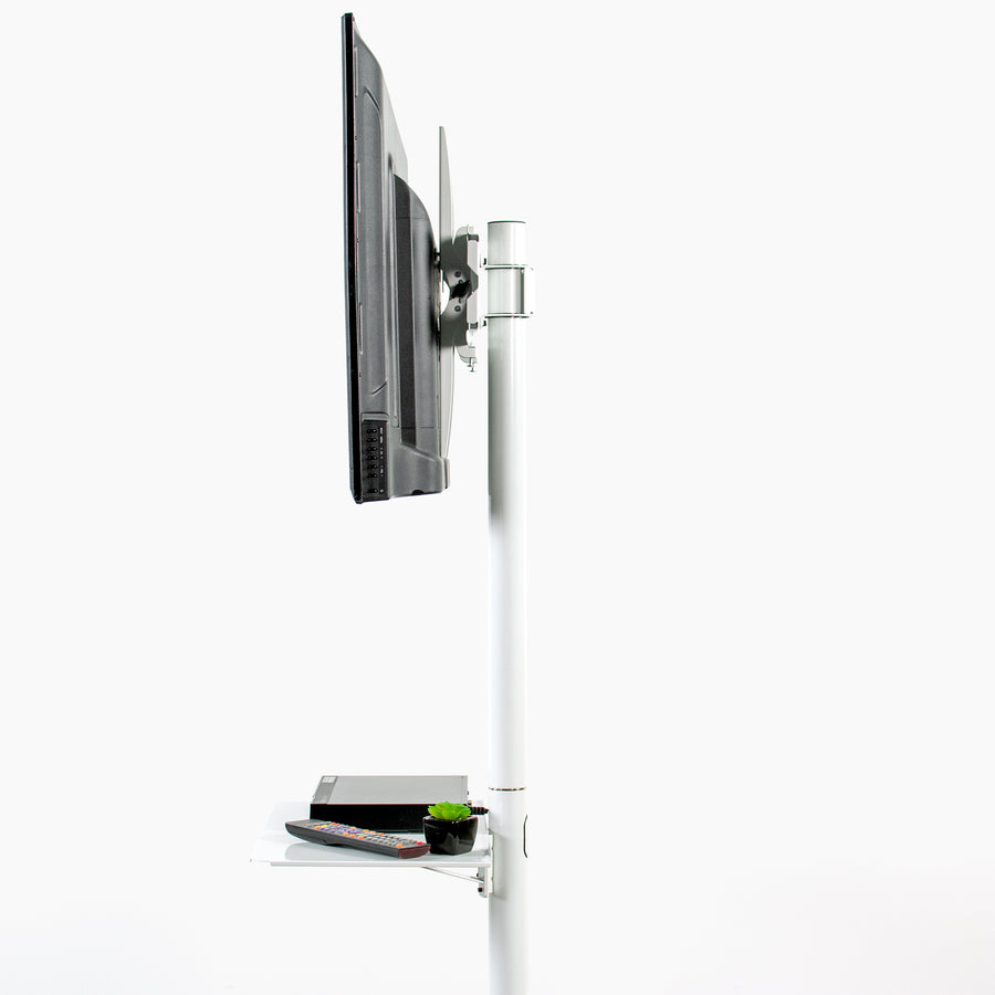 STAND-TV04MW <br><br>White TV Cart For 23