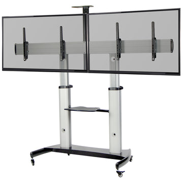 STAND-TV12H <br><br>Aluminum Mobile Dual TV Cart